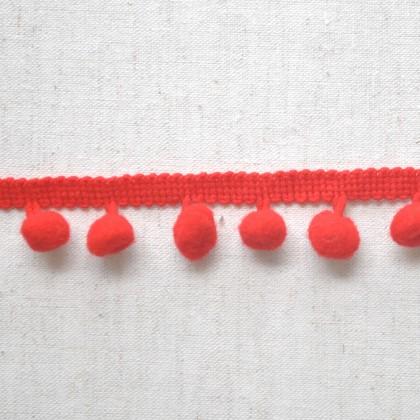 Pom Pom Lace Red