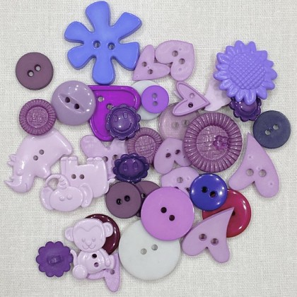 Purple Mix Craft Button 40pcs