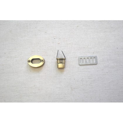 Twist Lock Brass 3cm