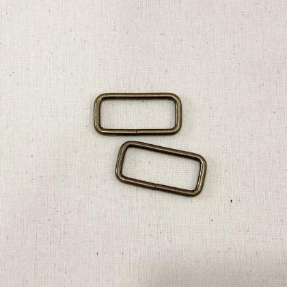 Square Ring Antique Bronze 3.2cm