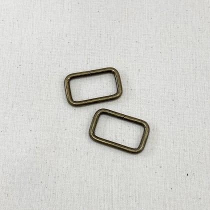 Square Ring Antique Bronze 2.6cm