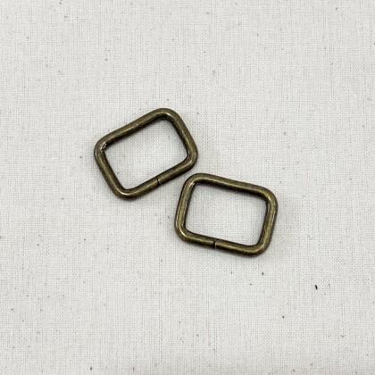 Square Ring Antique Bronze 2.0cm