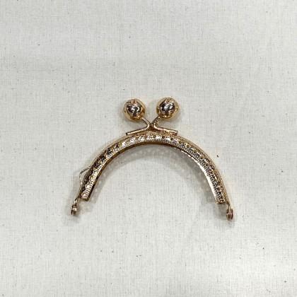 Gold Rose Knob Frame 8.5cm