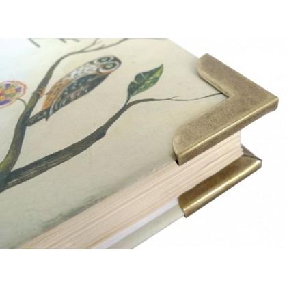 Super Large Book Corner 32mm Antique Bronze