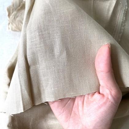100% French Linen (Khaki)