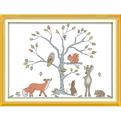 The tree and animal