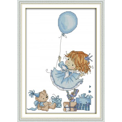 The little girl with a balloon