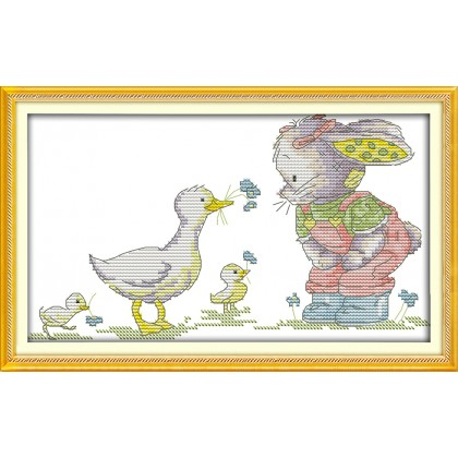 The patch rabbit and duck