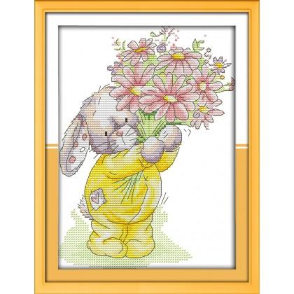Rabbit present a bouquet 2