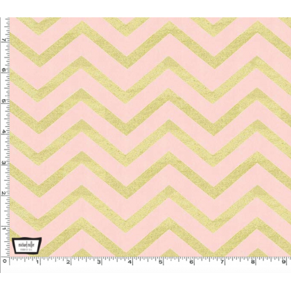 Sleek Chevron Pearlized Blush