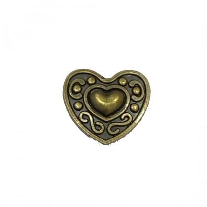 Snap Button Heart