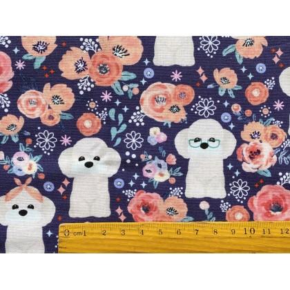 Floral Poodle Dog