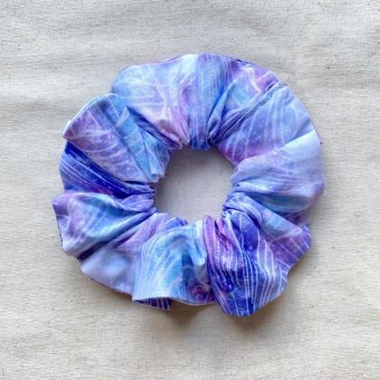 Fabric Scrunchie Purple Blue