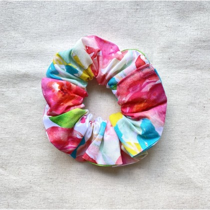 Fabric Scrunchie Watercolour Floral