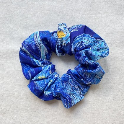 Fabric Scrunchie Blue Pop