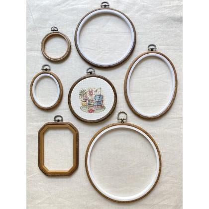 Vintage Hoop Octagon 10cm x 13.5cm