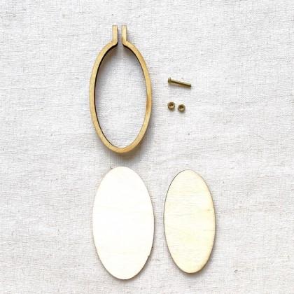 Mini Hoop Frame 6x3cm Oval