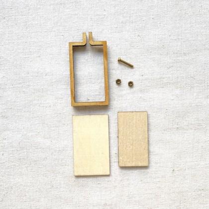 Mini Hoop Frame 5x3cm Oval