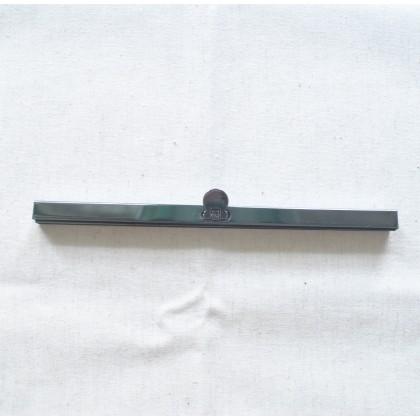 Long Gunmetal Purse Frame 19cm