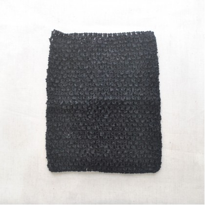 Crochet Band Black 16cm x 21cm