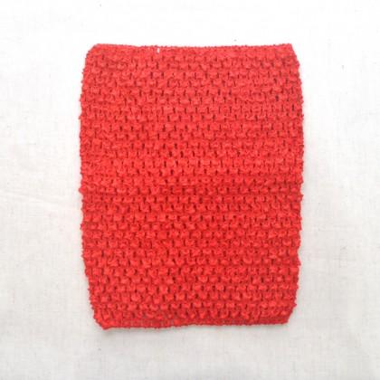 Crochet Band Red 16cm x 21cm