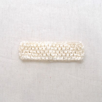 Crochet Band Cream 4cm x 14cm