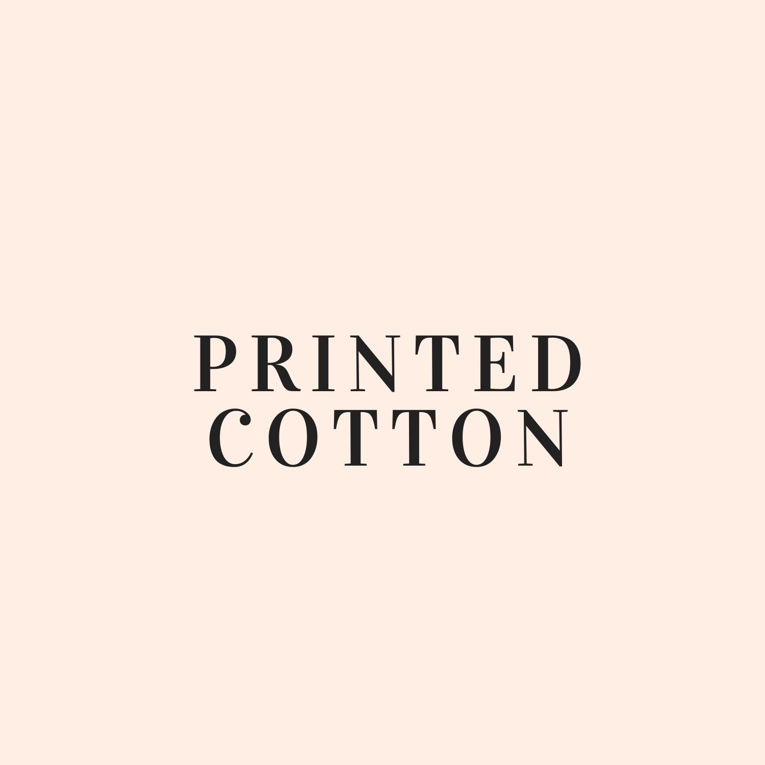 Printed Cotton